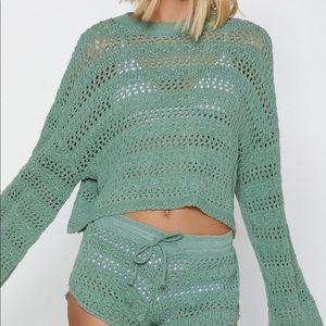 Guess Black Crochet Sweater